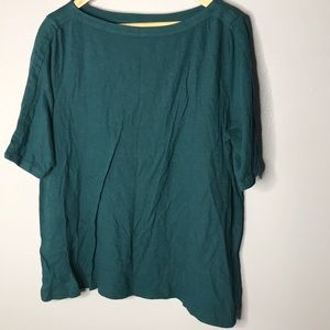 LOFT Dark Green Short Sleeve Top NWT